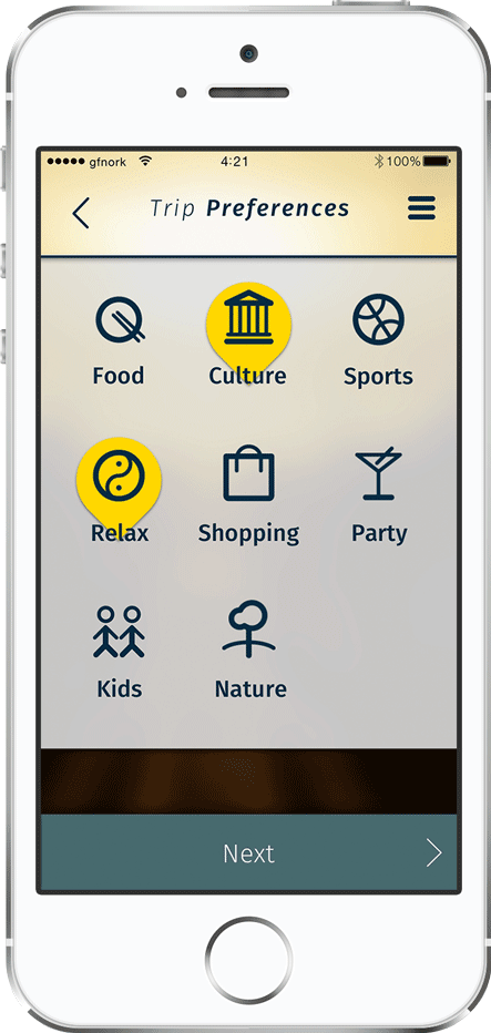personal travel app, trip planner